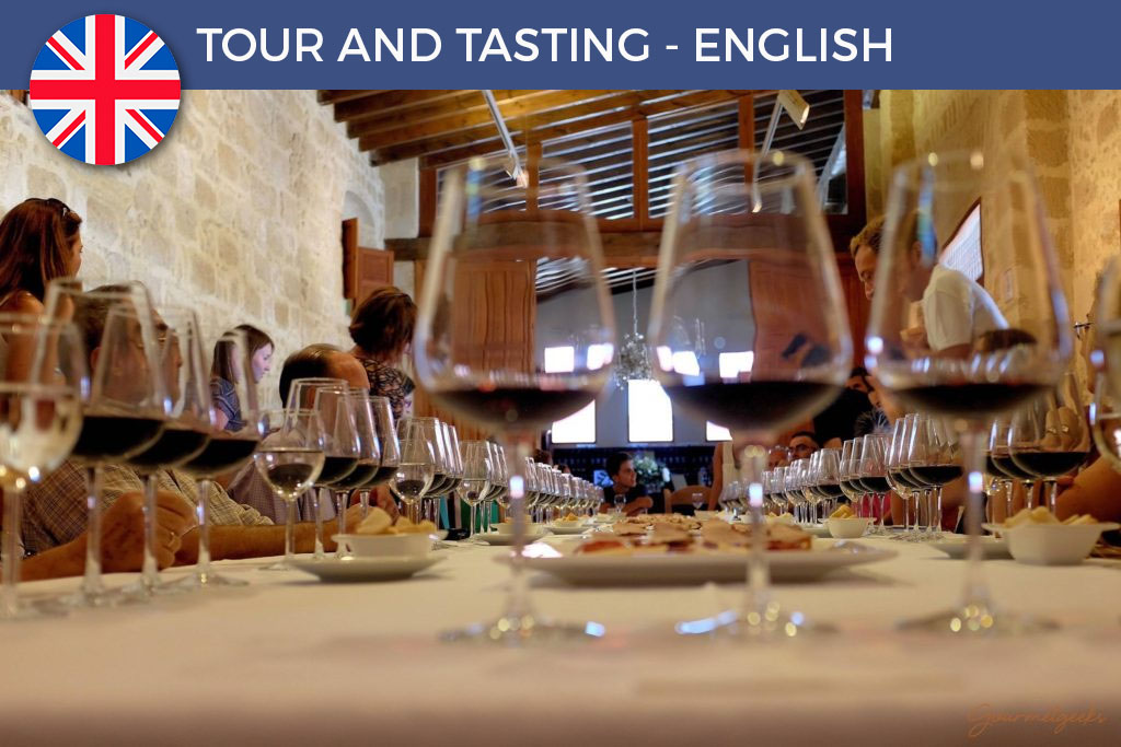 12:30h - TOUR AND TASTING - ENGLISH